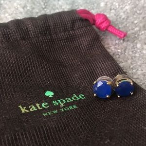 kate spade Jewelry - Kate spade blue stud earrings